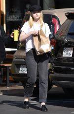 ELLE FANNING Leaves Burger Lounge in Los Angeles 11/28/2017