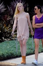 ELLE FANNING Out and About in Los Angeles 11/09/2017