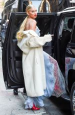 ELSA HOSK Arrives at Wendy Williams Show in New York 11/28/2017