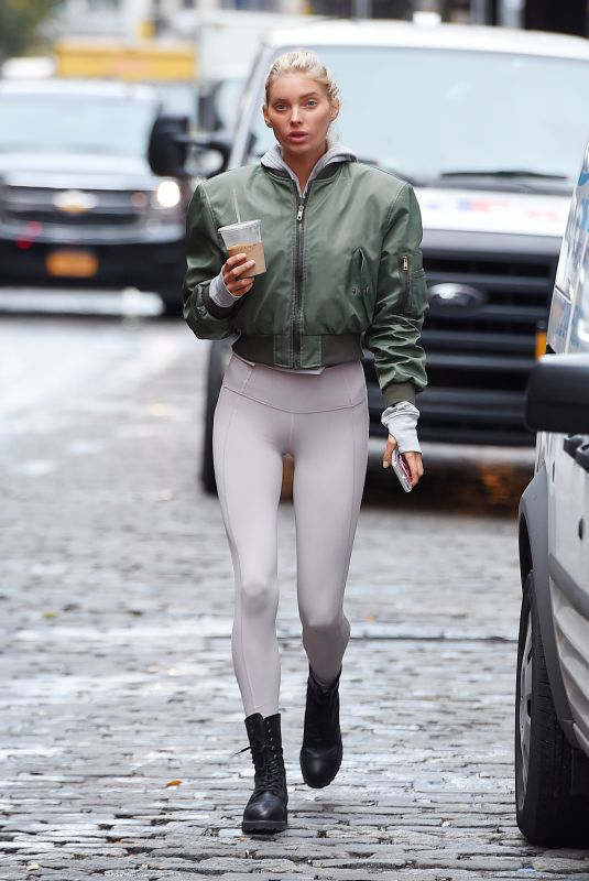 ELSA HOSK in Tights Out and About in New York 11/16/2017