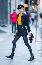 ELSA HOSK Out and About in New York 10/31/2017