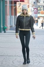 ELSA HOSK Out and About in New York 11/13/2017