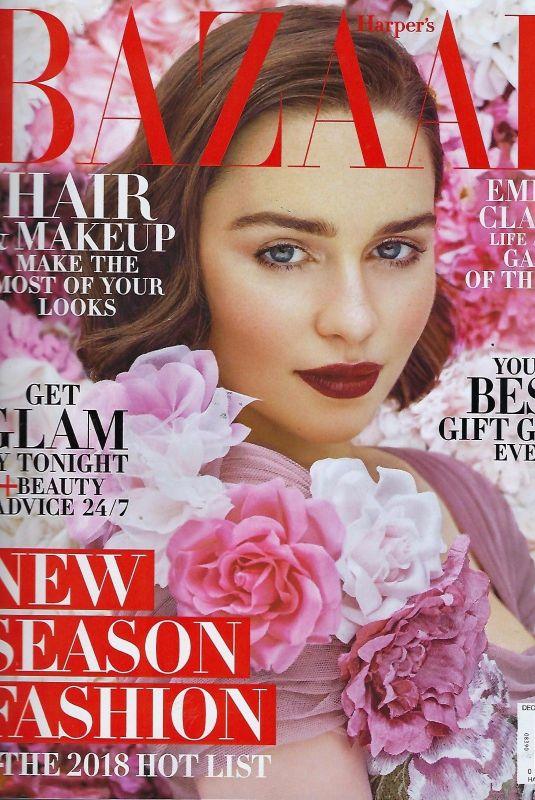EMILIA CLARKE on the Cover of Harper