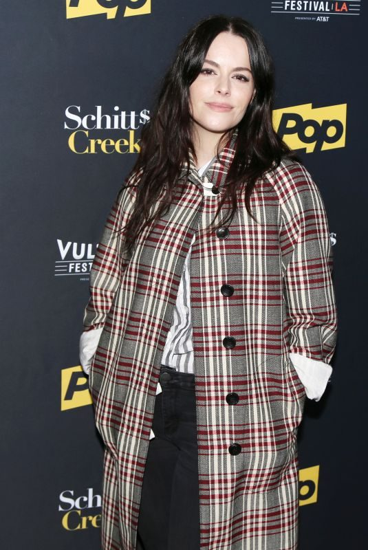 EMILY HAMPSHIRE at Schitt's Creek Panel at Vulture Festival in Los Angeles 11/19/2017