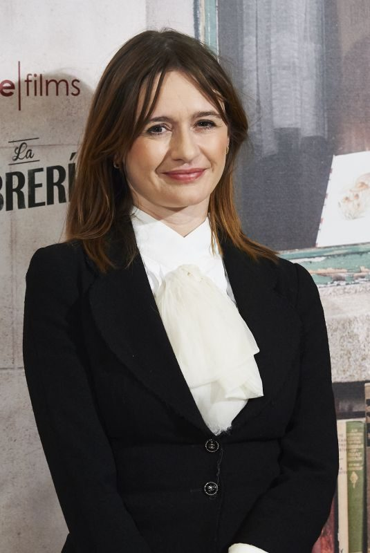EMILY MORTIMER at The Bookshop Photo Call in Madrid 08/11/2017
