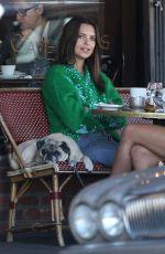 EMILY RATajkowski out for Coffee at Figaro Bistro in Los Feliz 11/28/2017