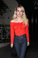 EMMA ROBERTS Leaves Madeo Restaurant in West Hollywood 11/06/2017