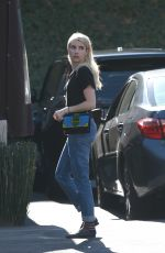 EMMA ROBERTS Out to Lunch in Los Angeles 11/09/2017