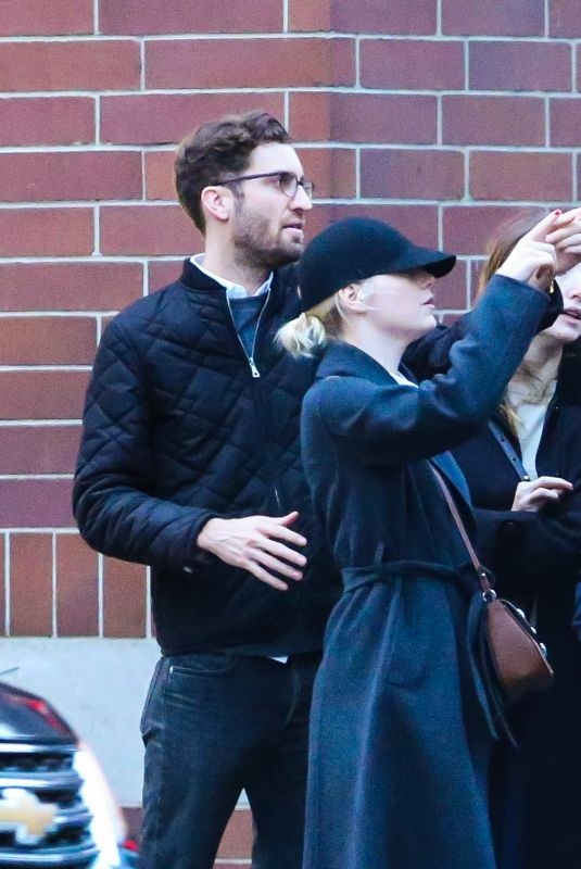 EMMA STONE and Dave McCary Out in New York 11/28/2017