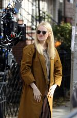 EMMA STONE on the Set of Maniac in New York 11/10/2017