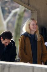 EMMA STONE on the Set of Maniac in New York 11/15/2017