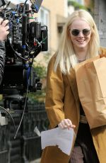 EMMA STONE on the Set of Ronald in New York 11/09/2017