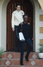EMMY ROSSUM and SHANOLA HAMPTON Out in Los Angeles 11/09/2017