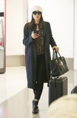 EMMY ROSSUM at LAX Airport in Los Angeles 11/19/2017