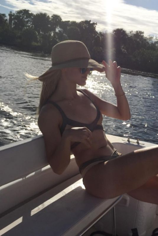 EUGENIE BOUCHAR in Bikini at a Boat, 11/07/2017 Instagram Picture