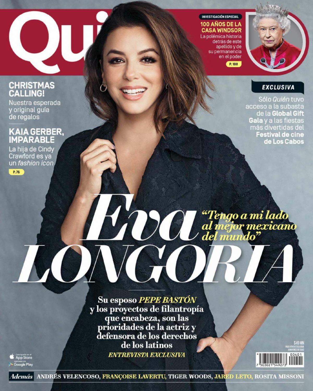 EVA LONGORIA In Quien Magazine, November 2017 Issue