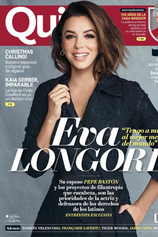 EVA LONGORIA in Quien Magazine, November 2017 Issue