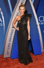 FAITH HILL at 51st Annual CMA Awards in Nashville 11/08/2017