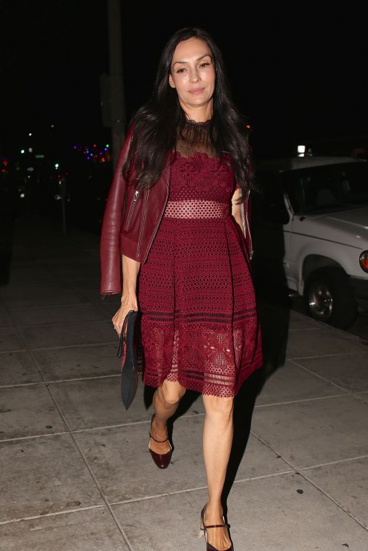FAMKE JANSSEN at Matsuhisa Restaurant in Los Angeles 11/14/2017