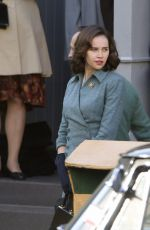 FELICITY JONES on the Set of On the Basis of Sex in Montreal 11/05/2017