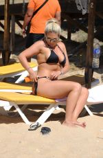 FRANKIE ESSEX in Bkini at a Beach in Lanzarote 11/09/2017