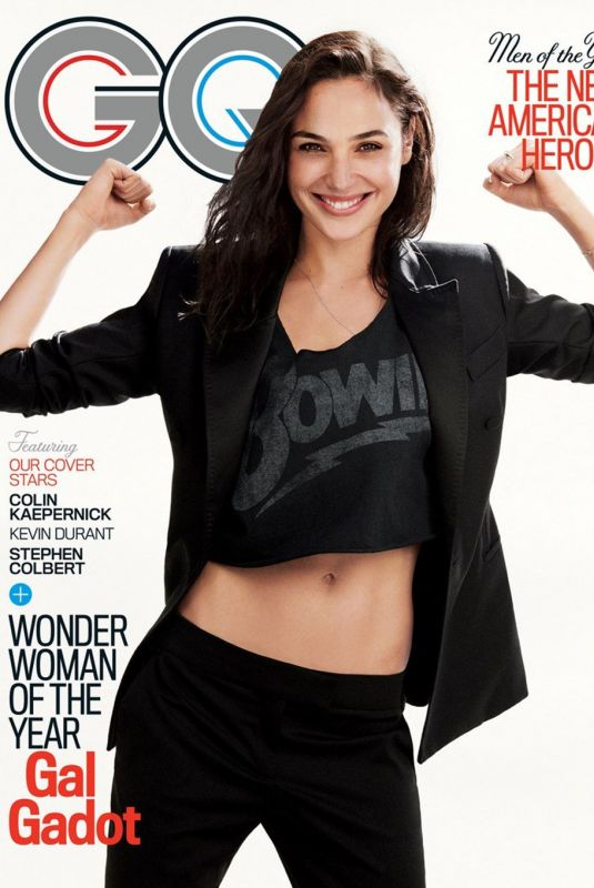 GAL GADOT on the Cover of GQ Magazine, December 2017