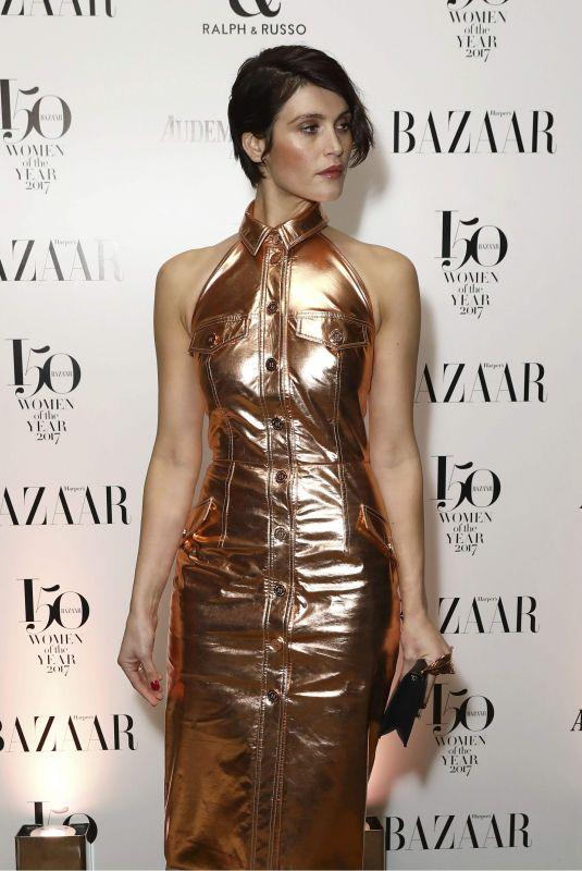GEMMA ARTERTON at Harper's Bazaar Women of the Year Awards in London 11/02/2017