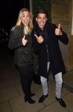 GEMMA ATKINSON and Aljaz Skorjanec at Rosso Restaurant in Manchester 11/07/2017