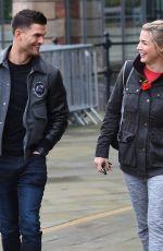 GEMMA ATKINSON and Aljaz Skorjanec Leaving Key 103 Radio in Manchester 11/01/2017