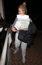 GEMMA ATKINSON Arrives at Her Hotel in Blackpool 11/16/2017