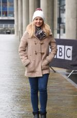 GEMMA ATKINSON Leaves BBC Breakfast Studio in Manchester 11/20/2017