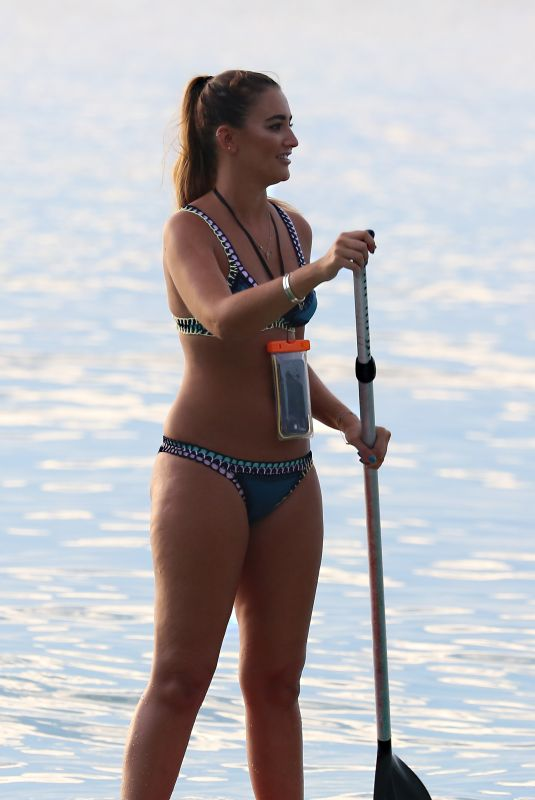 GEORGINA LEIGH CANTWELL in Bikini Paddle Boarding in Barbados 11/06/2017