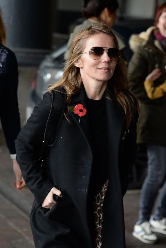 GERI HALLIWELL at Manchester Piccadilly Train Station 11/03/2017