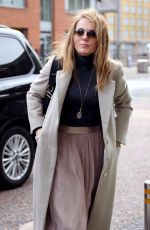 GERI HORNER Leaves ITV Studios in London 10/31/2017