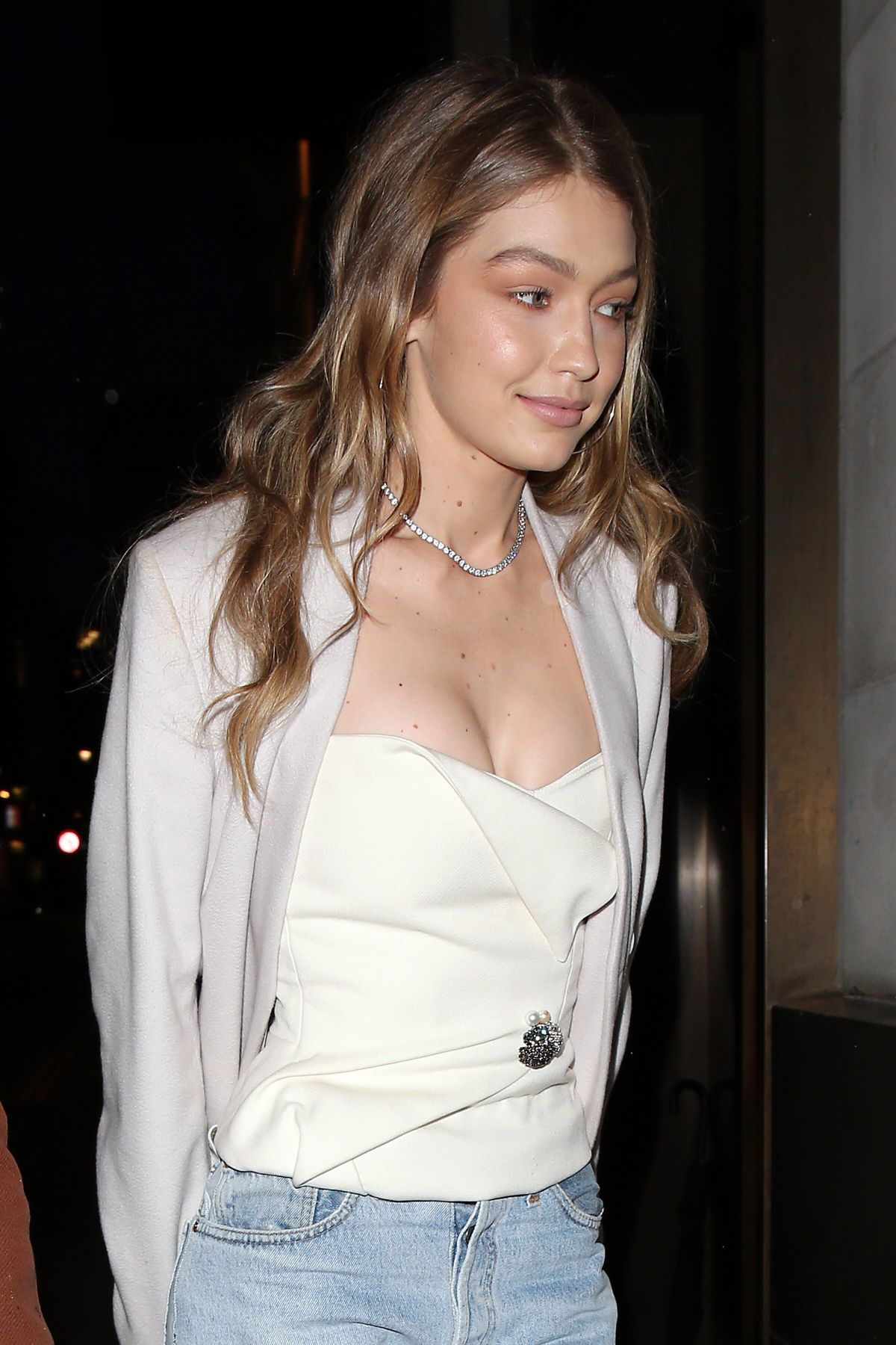 57e826123d6 Gigi Hadid at Gigi Hotel Pop-up Venue for Her Gigi x Maybelline VIP Party  in London (7.11.2017)