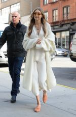 GIGI HADID Out in New York 11/15/2017