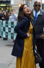 GINA RODRIGUEZ Leaves AOL Build in New York 11/06/2017