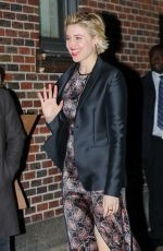 GRETA GERWIG Arrives at Late Show with Stephen Colbert in New York 11/16/2017