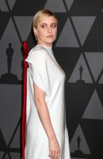 GRETA GERWIG at AMPAS 9th Annual Governors Awards in Hollywood 11/11/2017