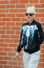 GWEN STEFANI Leaves a Studio in Los Angeles 10/31/2017
