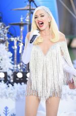 GWEN STEFANI on the Set of Her Performance for Macy