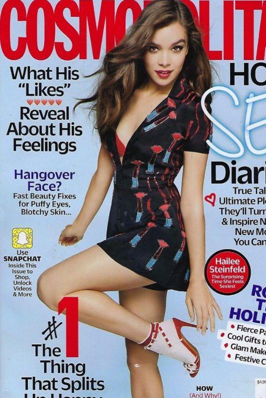 HAILEE STEINFELD on the Cover of Cosmopolitan Magazine, December 2017