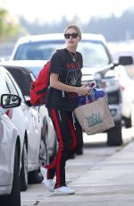 HAILEY BALDWIN Arrives in Miami on a Private Plane 11/24/2017