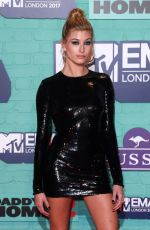 HAILEY BALDWIN at 2017 MTV Europe Music Awards in London 11/12/2017
