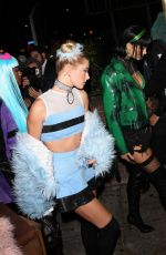 HAILEY BALDWIN at Halloween Party at Delilah in West Hollywood 10/31/2017