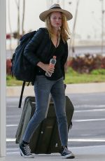 HEATHER GRAHAM Arrives at Cancun International Airport in Mexico 11/09/2017