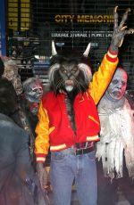 HEIDI KLUM as Nerd Scott Howard from Teen Wolf at Her Annual Halloween Bash in New York 10/31/2017
