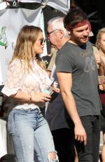 HILARY DUFF and Matthew Koma at Farmers Market in Los Angeles 11/26/2017