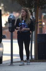HILARY DUFF Arrives at Starbucks in Studio City 11/11/2017