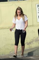 HILARY DUFF at a Gym in Los Angeles 11/07/2017